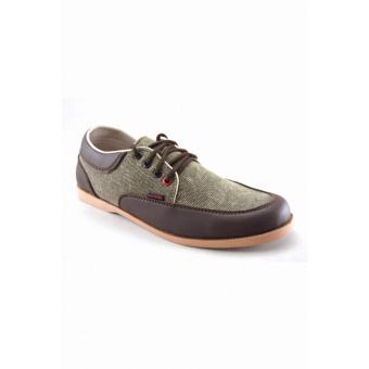 Redknot Counting Grey Denim Brown Sepatu Sneaker Fashion Pria Casual Keren Ganteng Maksimal