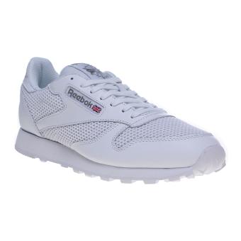 Reebok Classic Leather & Knitted Men's Shoes - White-Carbon-Snowy Grey
