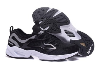Reebok FURY ADAPT Running Shoes Light Comfortable Running Shoes Men's Cashion Shoes(black white) - intl