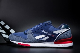 Reebok Mens Casual Shoes GL6000 Sports Shoes Running Shoes Reebok Classical Walking Shoes (Blue with Jean Cloth ) - intl