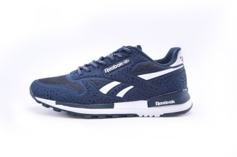 Reebok Mens Casual Shoes Sublite Super Duo Walking Shoes Men Reebok Ultra-light Breathable Running Shoes (blue white) - intl