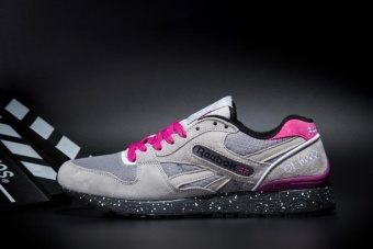 Reebok Womens Casual Shoes GL6000 Sports Shoes Running Shoes Reebok Classical Walking Shoes (grey Pink Splash-ink) - intl