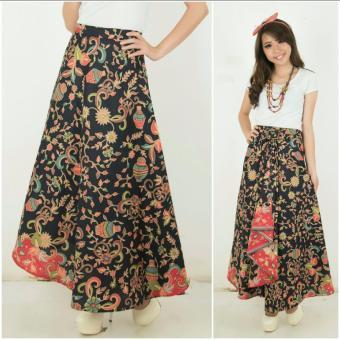 Rok lilit maxi payung batik wanita jumbo long skirt Anya