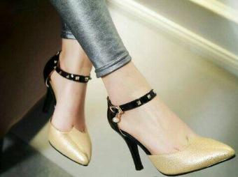 RSM Sepatu Heels Wanita S-243 - Gold