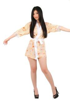 Ruby LZ-708 Sexy Transparent Chiffon Kimono Lingerie