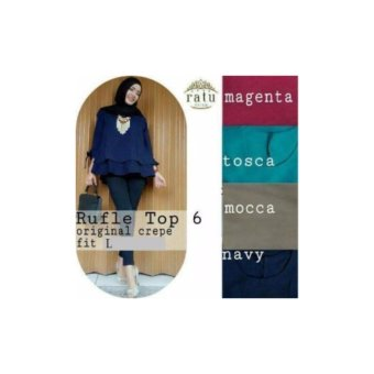 Ruffle Top Wolfis Fit L-Navy