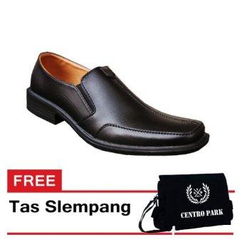 S. van Decka XTK029 Sepatu Formal Pria - Hitam+ Gratis Tas Slempang