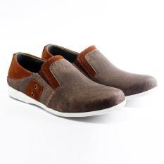 Salvo Sepatu pria denim SC coklat