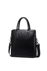 Sammons 190257-01 Genuine Cowhide Leather Briefcase / Tote Bag Black