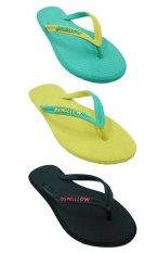 Sandal Swallow SLIMFEET Wanita - Bundle 3 Pasang - Hijau-Kuning-Hitam