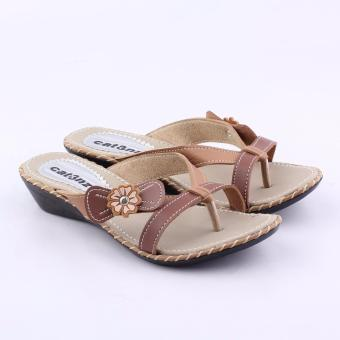 Sandal Wanita Model Jepit 2472 - Coklat