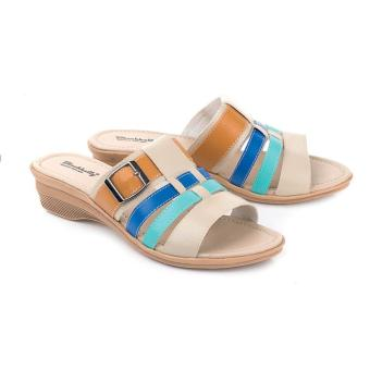 Sandal Wanita | Sendal Cewek Warna Krem Komb - LCU 404