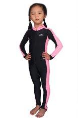 Satu potong baju renang anak perempuan pakaian anak penuh Snorkeling Scuba Diving basah setelan (berwarna merah muda) - International