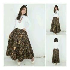 SB Collection Rok Maxi Akina Batik Long Skirt Hitam
