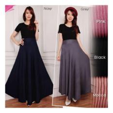 Skirt Orange Source SB Collection Rok Maxi Likita Long Pant Hitam .