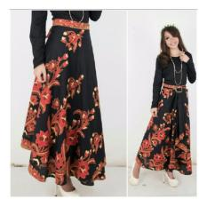 SB Collection Rok Maxi Yanti Lilit Batik Long Skirt-Hitam