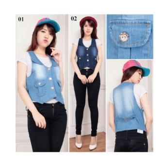SB Collection Rompi Githa Jeans-Biru Muda