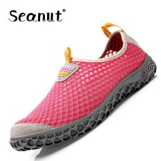 Seanut Fashion Men's Mesh Casual Sports Shoes Slip-on Breathable Couple Sneakers (Pink) - Intl