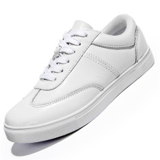 Seanut Men's Fashion Lovers Skater Shoes Breathable Casual Shoes (White)