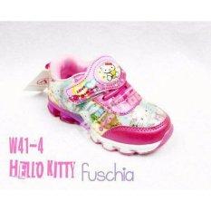 Sepatu Anak Import Karakter Hello Kitty Led - Pink