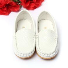 Sepatu Anak PU Kulit Sepatu Kets Untuk Laki Dan Perempuan Dengan Perahu Slip Pada Satu-Satunya Sepatu Lembut Dan Santai Flat