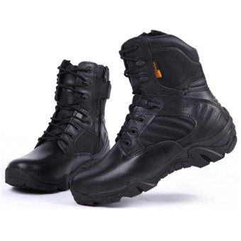 Sepatu Army Delta Tracking Shoes Tactical 8Inc- Hitam