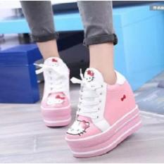 Sepatu Boot Wanita Model Hello Kitty
