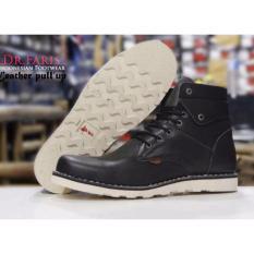 Sepatu Boots Casual Kulit Sapi Dr.Faris - Black