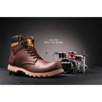 Sepatu Caterpillar Holthon Safety Darkbrown
