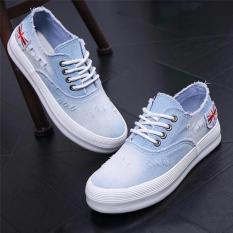 Sepatu Kets Sport Wanita Bendera England Denim - Jeans