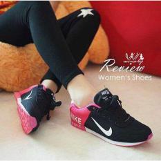 Sepatu Kets Wanita Airmax Black - PINK Full Spons