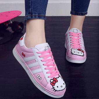 Sepatu Kets Wanita Yutaka Marlee Hello Kitty Pink