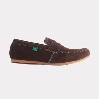 Sepatu Pria Slip On - Coklat Tua
