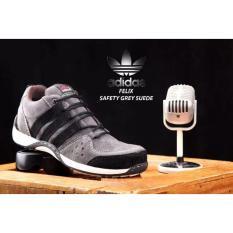Sepatu Safety Low boots Kulit Suede Felix - Grey