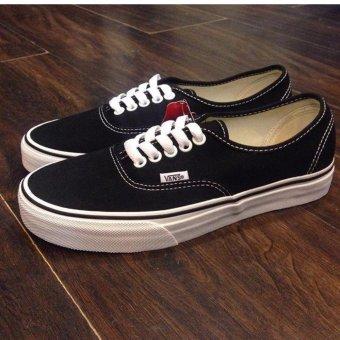 Sepatu Sneakers Vens Authentic Pro Skate - Black white