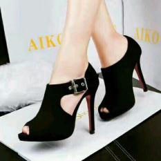 Sepatu Wanita Sepatu High Heels Gesper