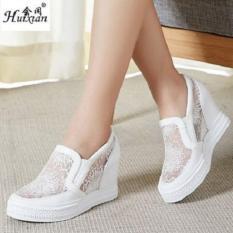 Sepatu Wedges Wanita ZR Jala- Putih