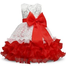 Sequin Formal Evening Gown Flower Wedding Princess Dress Girls Children Clothing Kids Dresses for Girl Clothes Tutu Party Dress - intl