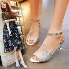 Sexy Women's High Heels Sandals (Silver) - intl