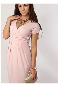 Sexy Women s Maternity Dress Club Wear Evening Cocktail Party Bodycon Slim  Fit Pencil Dress (Pink 4eb2b15d2