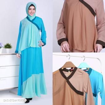 Shawina Two Tone Layer Muslim Set