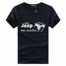 Shopaholic Kaos Katun Pria JEEP O Neck Size M / T-Shirt - Black
