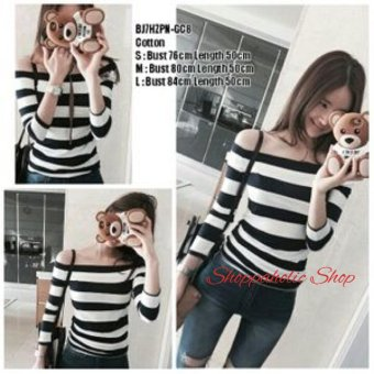 Shoppaholic Shop Blouse Sabrina Stripes Ayumi