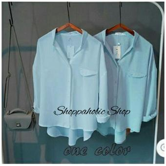 Shoppaholic Shop Hem Blouse Emma - Blue
