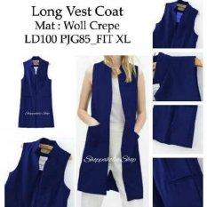 Shoppaholic Shop Long Vest Wanita - Navy