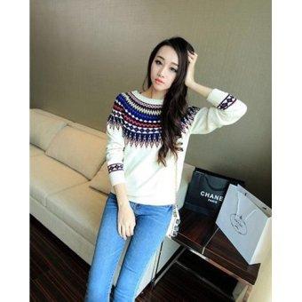 Shoppaholic Shop Sweater Wanita Basic Lyla Putih   Sweater Wanita   Baju  Hangat   Baju Tebal 5b67bbdf04