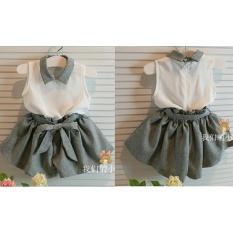 Shopping Yukz Setelan Trendy Baju dan Celana Anak Kiddy Abu - Gratis Belt