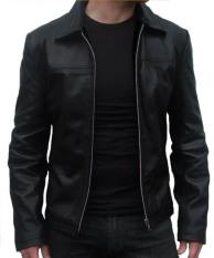 Sidnanes Men Leather Jacket Formal - Hitam