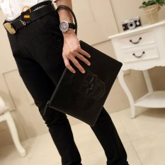 Skull Fashion Clutch European Old School Men Bag Clutch Simple Messenger Handbag Clutch 3889 - Intl