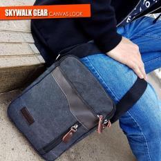 Skywalkgear Boas Tas Selempang Kanvas Pria- 1126 Black